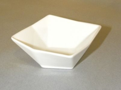 Coupe porcelaine carré 8,5 x 8,5 cm